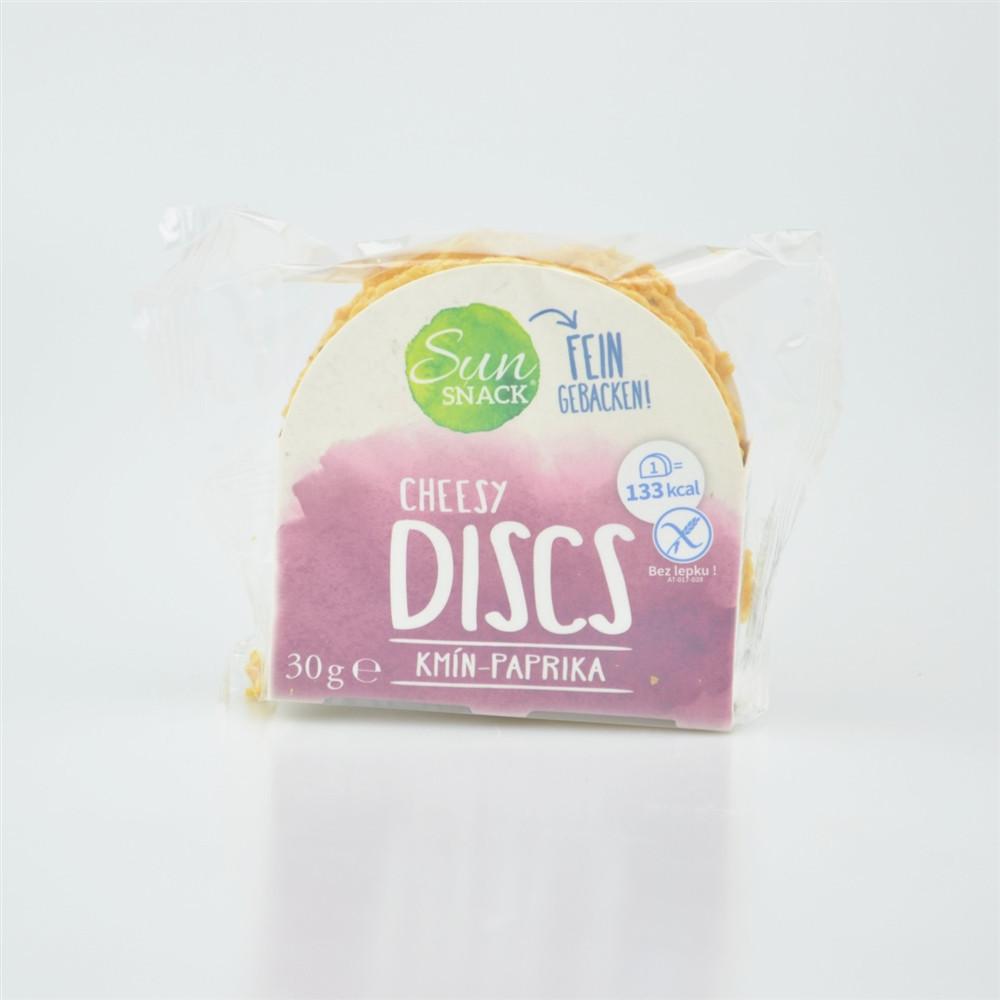 Cheesy discs kmín a paprika - SunSnack 30g