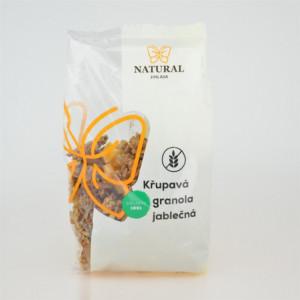 Křupavá granola jablečná bez lepku - Natural 300g
