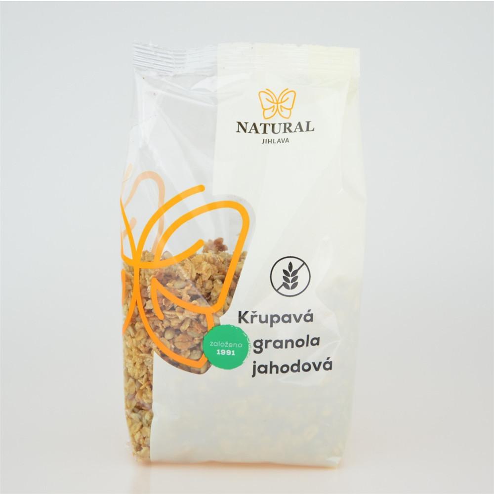 Křupavá granola jahodová bez lepku - Natural 300g