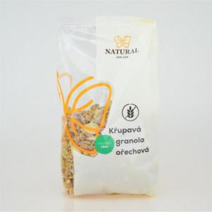 Křupavá granola ořechová bez lepku - Natural 300g