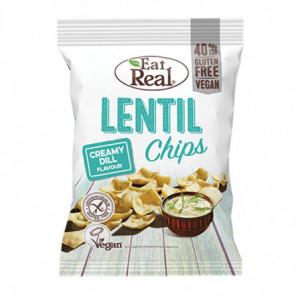 Lentil chips s krémovým koprem - Eat Real 40g