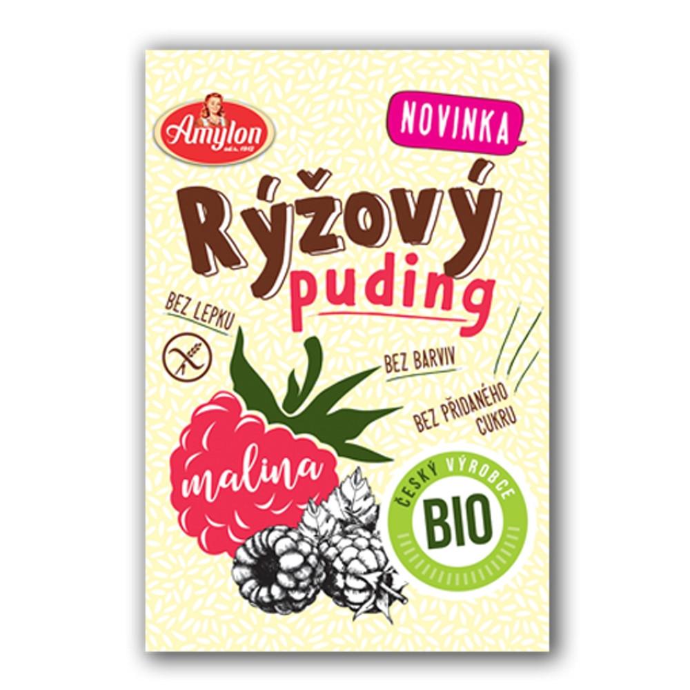 Puding rýžový malinový BIO bez lepku - Amylon 40g
