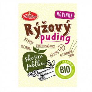Puding rýžový s jablkem a skořicí BIO bez lepku - Amylon 40g
