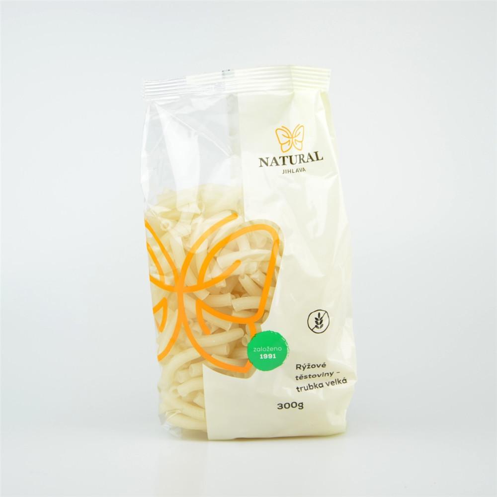 Těstoviny rýžové bez lepku - trubka velká - Natural 300g