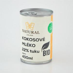Kokosové mléko BIO 22% tuku - Natural 400ml