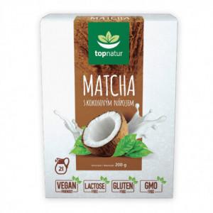 Matcha s kokosovým nápojem - Topnatur 200g
