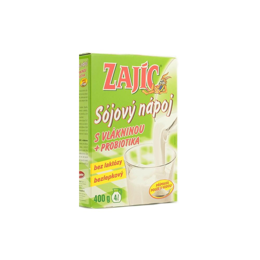 Zajíc - sójový nápoj s vlákninou a probiotiky - Mogador 400g