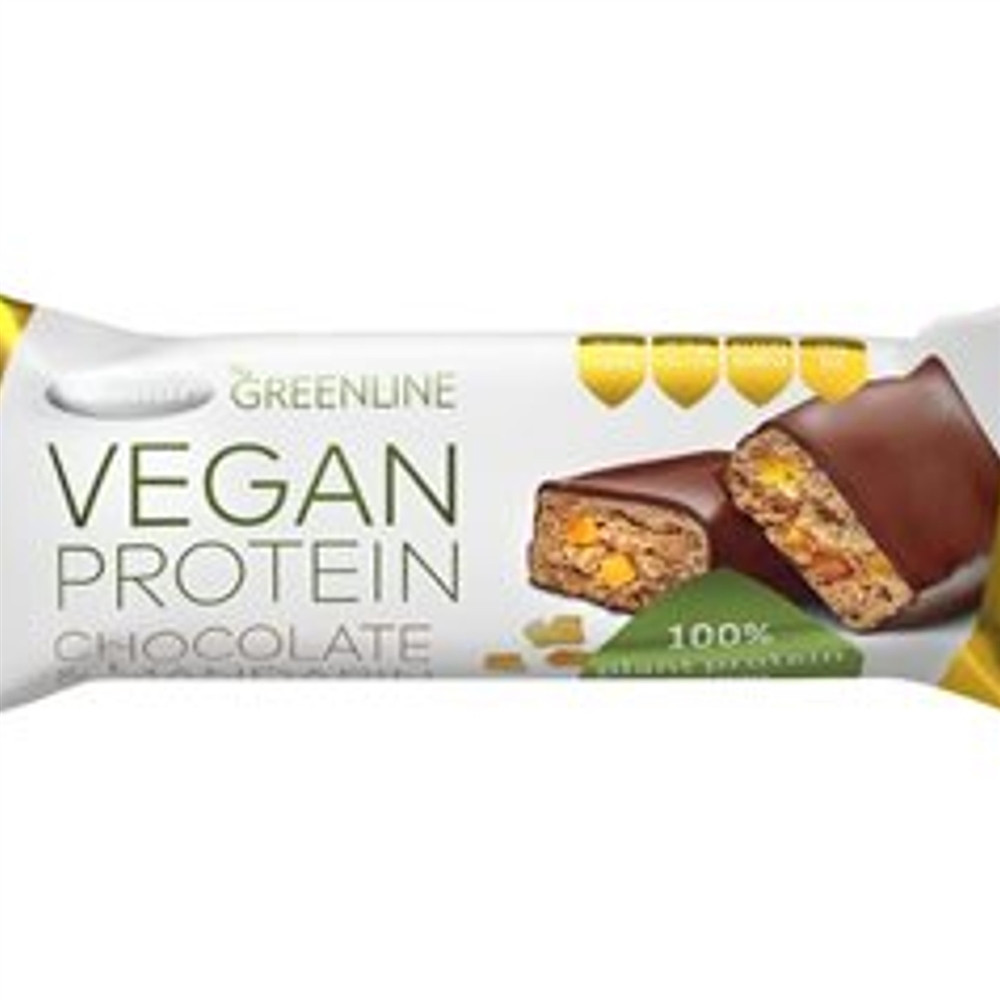 Green line - vegan proteinová tyčinka - čokoláda&mandarinka - Tekmar 40g
