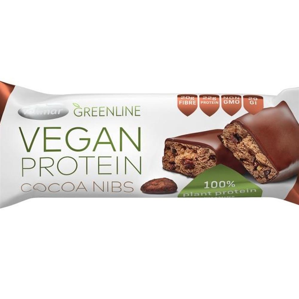 Green line - vegan proteinová tyčinka - kakaové boby - Tekmar 40g