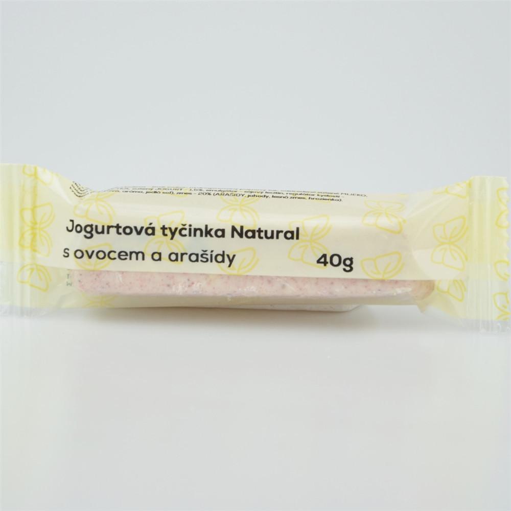 Jogurtová tyčinka s ovocem a arašídy - Natural 40g