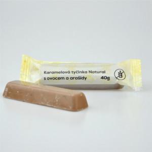 Karamelová tyčinka s ovocem a arašídy - Natural 40g