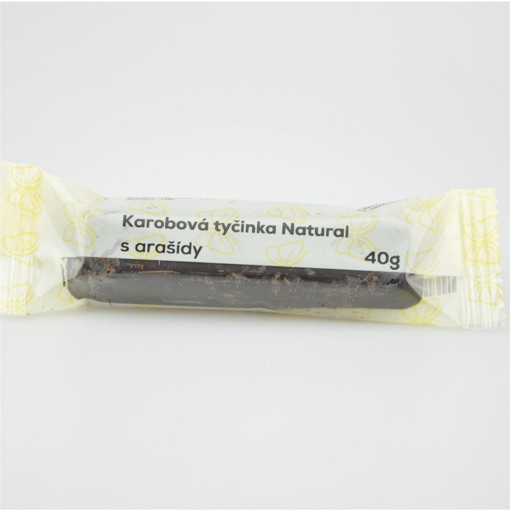 Karobová tyčinka s arašidy - Natural 40g