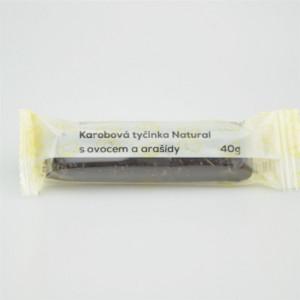 Karobová tyčinka s ovocem a arašídy - Natural 40g