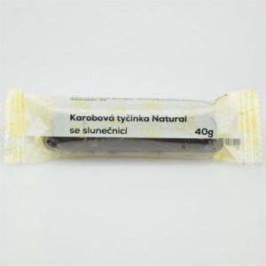 Karobová tyčinka se slunečnicí - Natural 40g