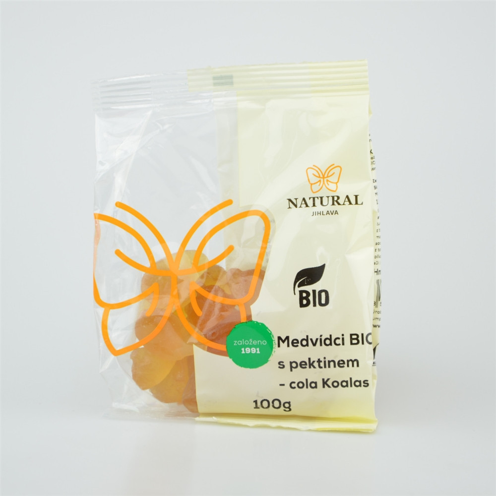Medvídci s pektinem BIO cola Koalas - Natural 100g