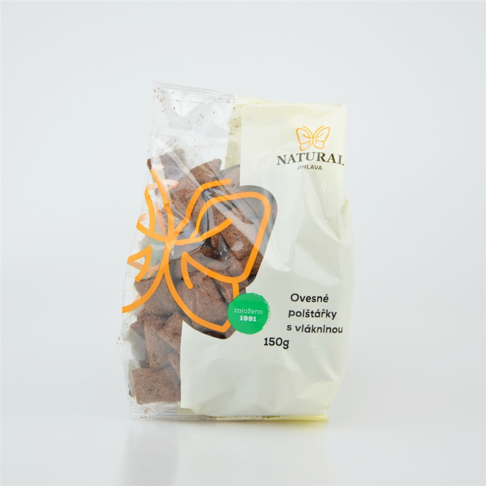 Ovesné polštářky s vlákninou - Natural 150g