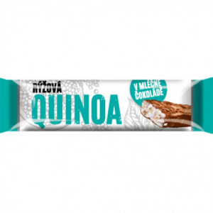 Pufovaná rýžová tyčinka s quinoou v mléčné čokoládě 18g
