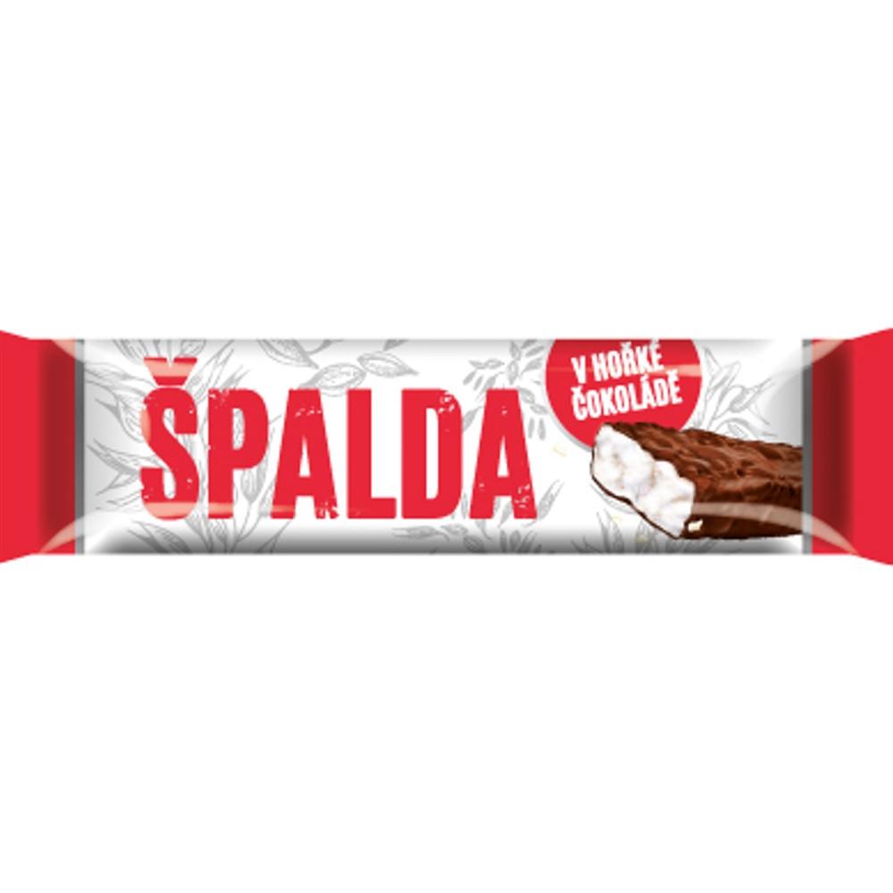 Pufovaná špaldová tyčinka v hořké čokoládě 18g