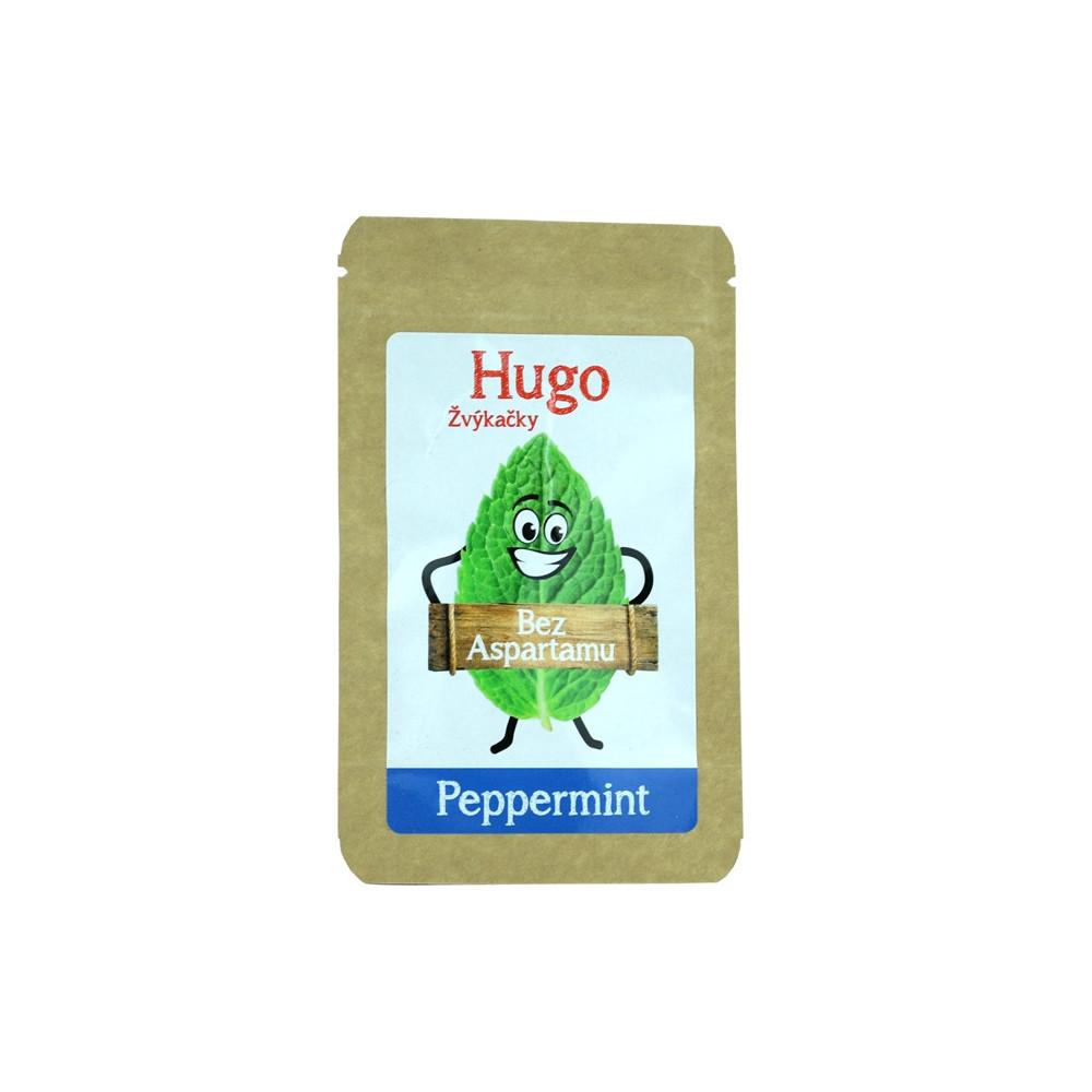 Žvýkačky Peppermint bez aspartamu - Hugo 9g