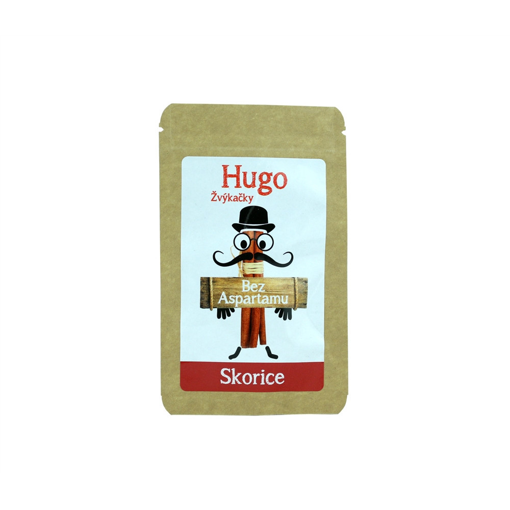 Žvýkačky Skořice bez aspartamu - Hugo 9g