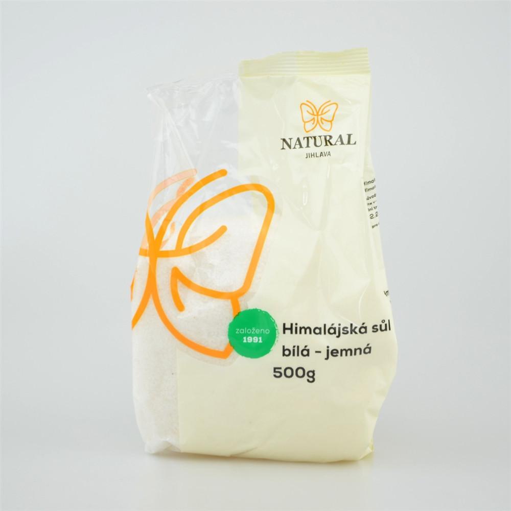 Sůl himalájská bílá jemná - Natural 500g