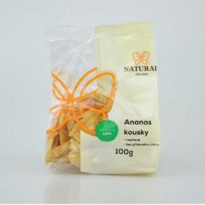 Ananas kousky nesířené bez cukru - Natural 100g