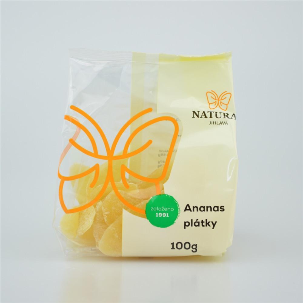 Ananas plátky slazené - Natural 100g