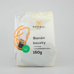 Banán kousky nesířený bez cukru - Natural 150g