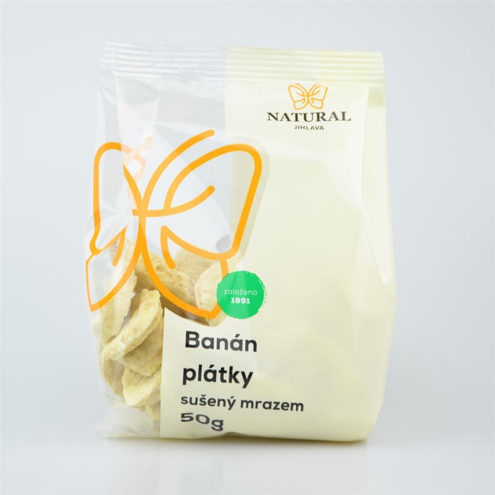 Banán plátky sušený mrazem - Natural 50g