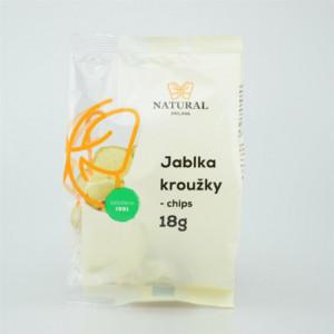 Jablka kroužky chips - Natural 18g