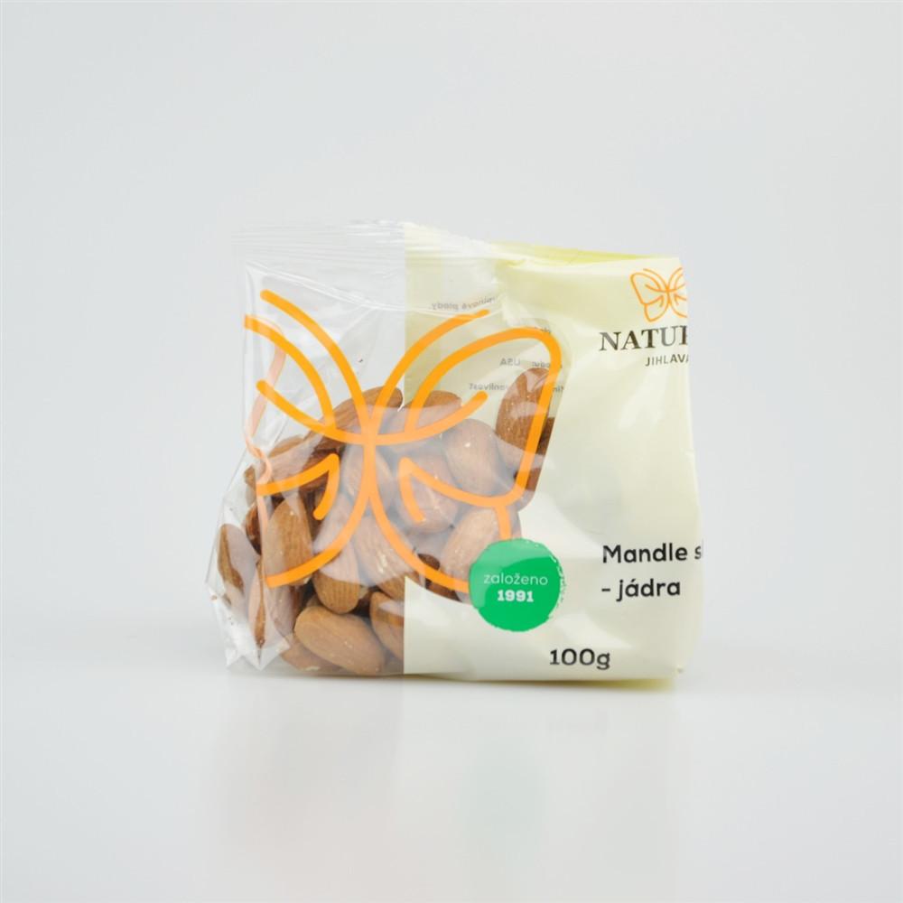 Mandle sladké - jádra - Natural 100g