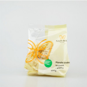 Mandle sladké loupané - plátky - Natural 100g