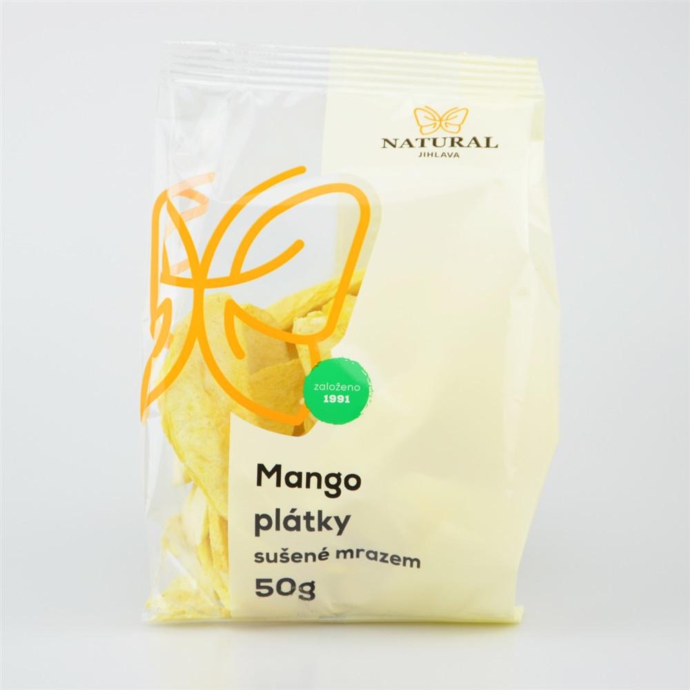 Mango plátky sušené mrazem - Natural 50g