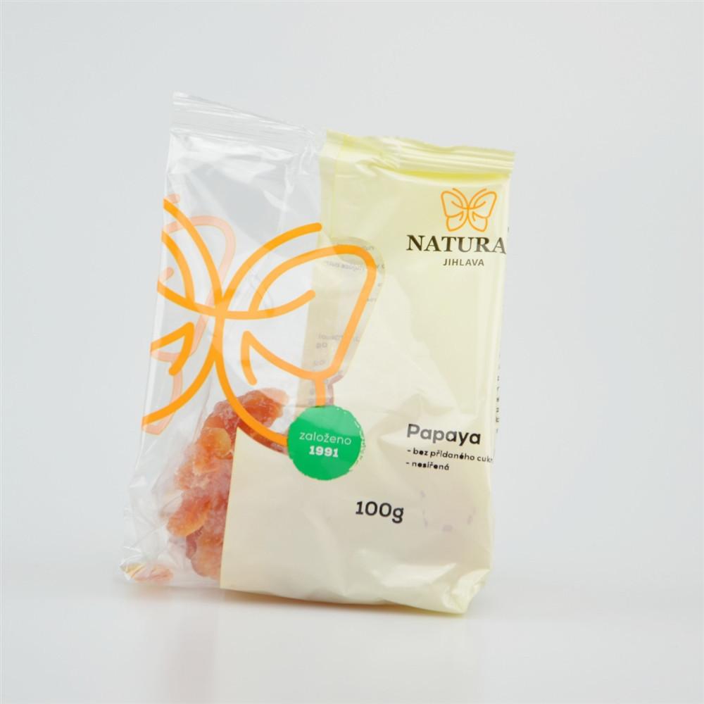 Papaya nesířená bez cukru - Natural 100g