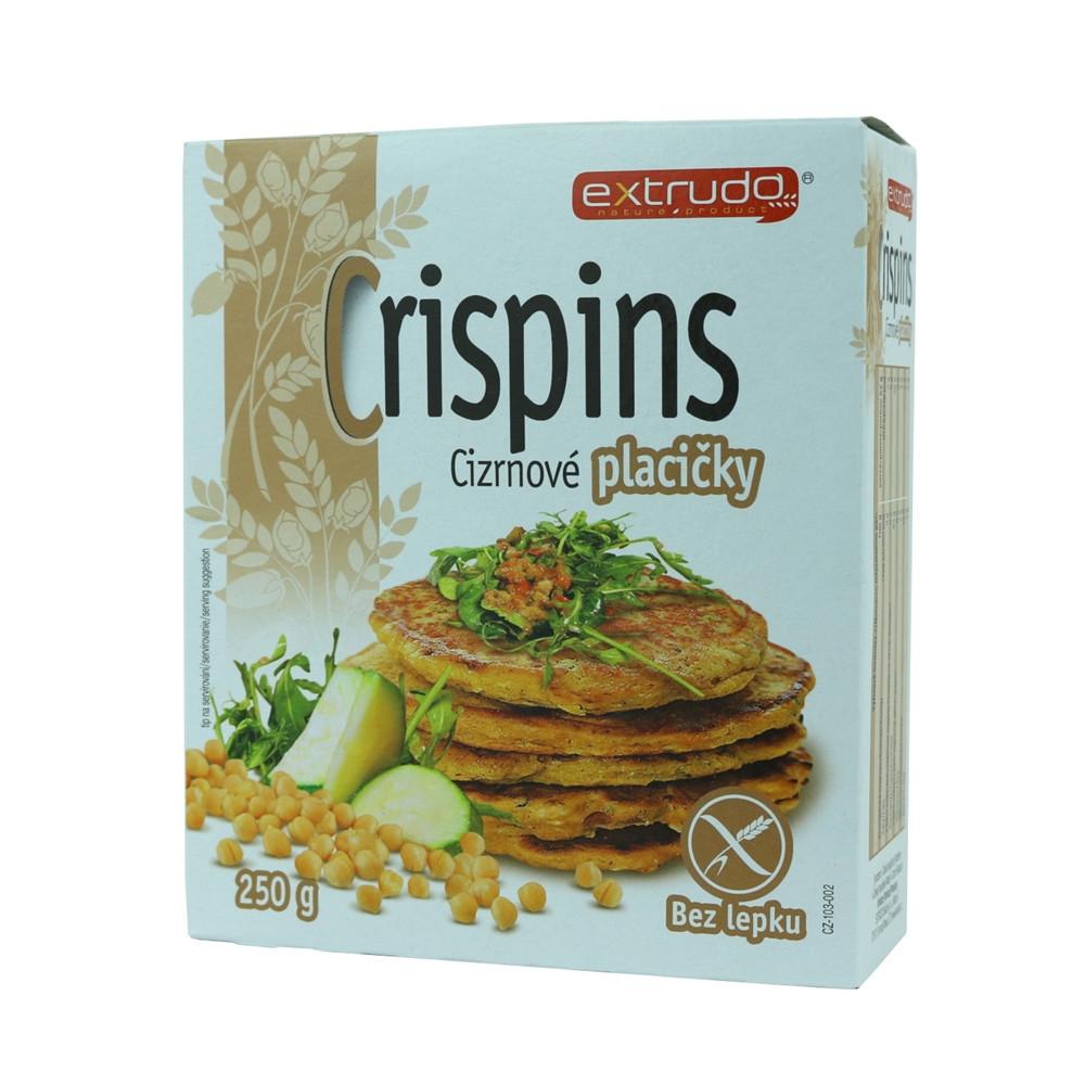 Crispins cizrnové  placičky bez lepku - Extrudo 250g