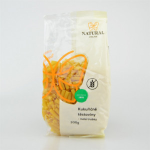 Těstoviny kukuřičné - malé trubky - Natural 300g