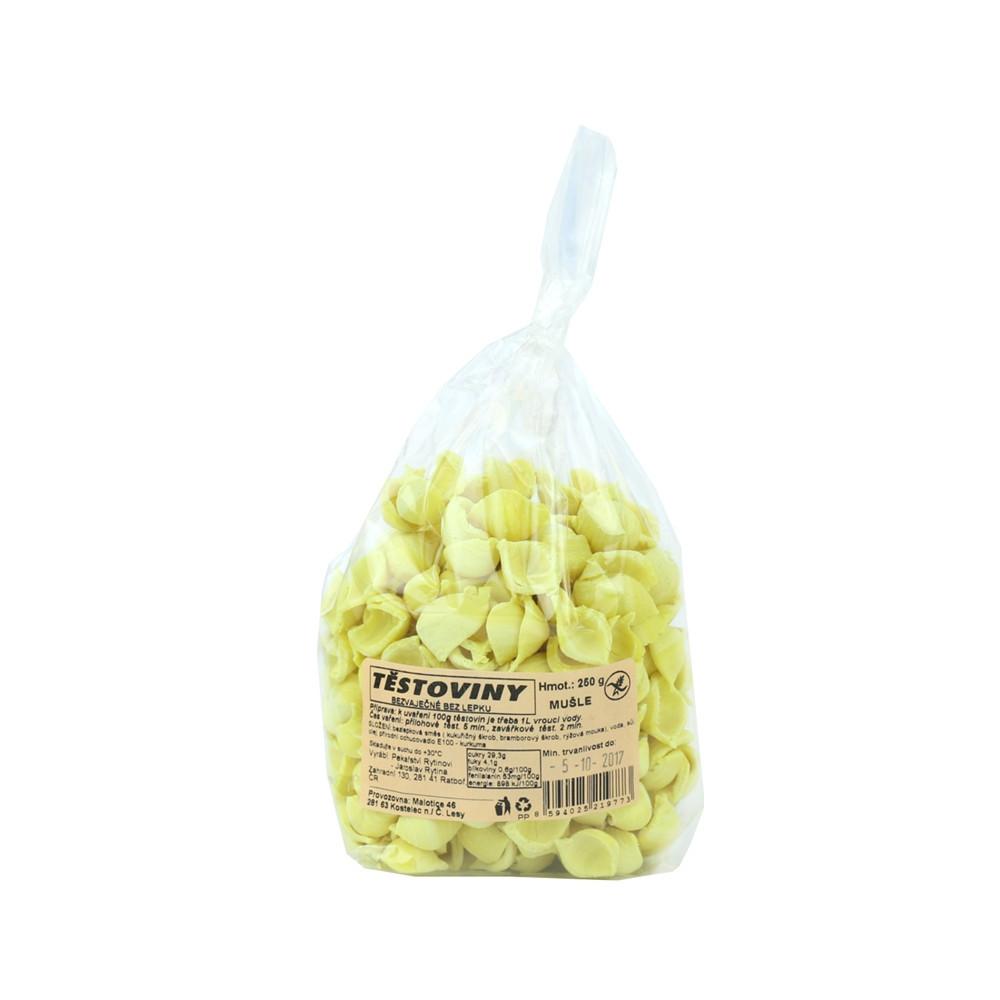 Těstoviny kukuřičné - mušle bez lepku - Rytinová 250g