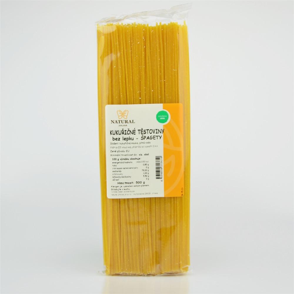 Těstoviny kukuřičné - špagety bez lepku - Natural 500g
