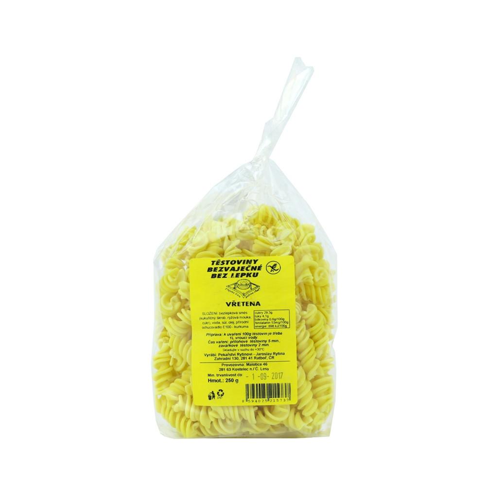 Těstoviny kukuřičné - vřetena bez lepku - Rytinová 250g