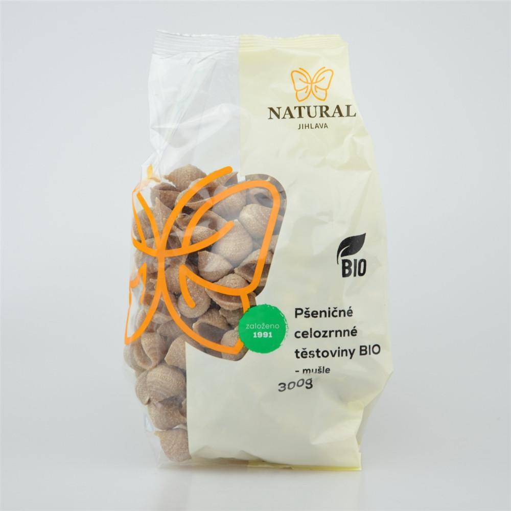 Těstoviny pšeničné celozrnné BIO - mušle - Natural 300g