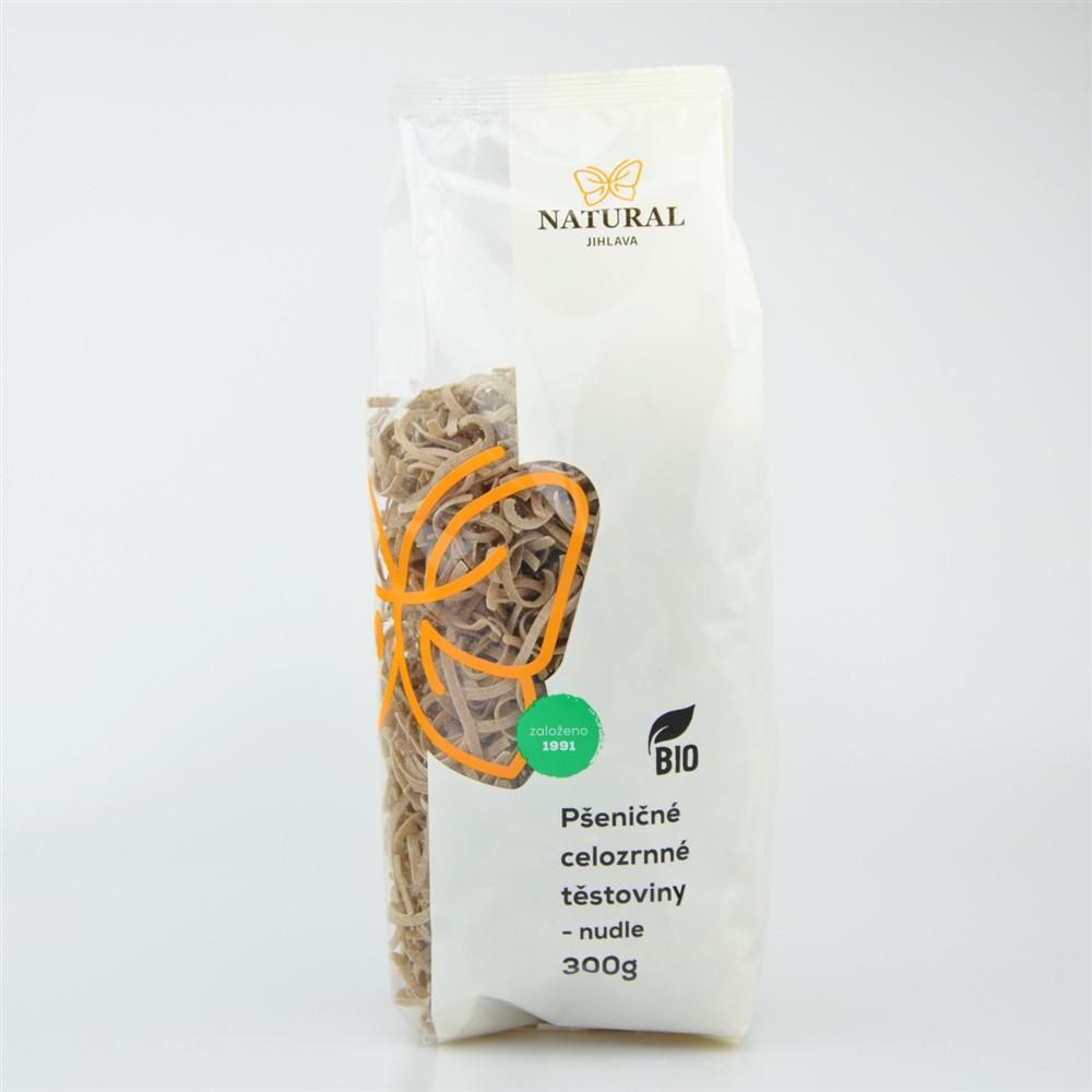Těstoviny pšeničné celozrnné BIO - nudle - NAtural 300g