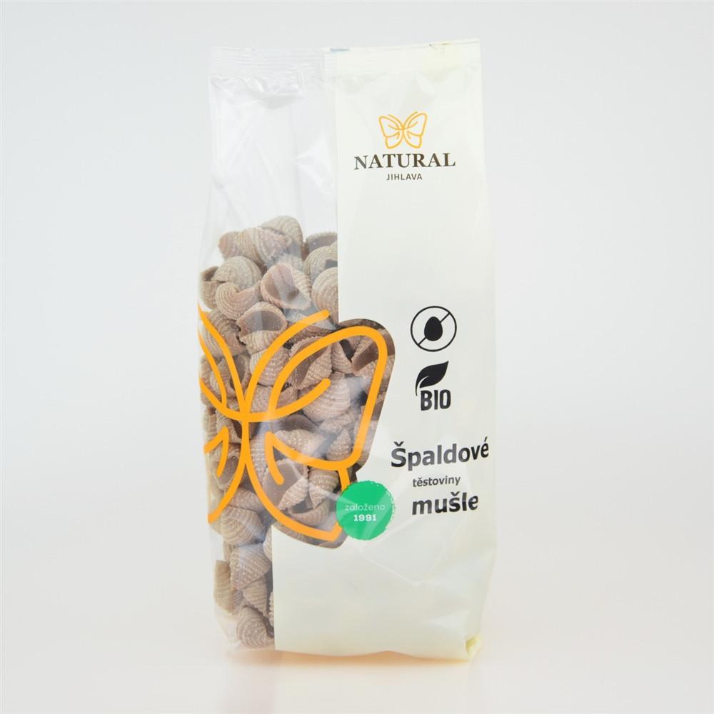 Těstoviny špaldové celozrnné BIO - mušle - Natural 300g