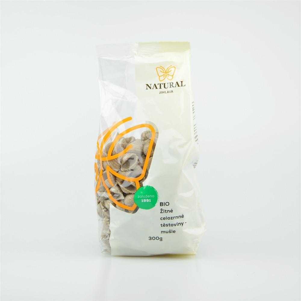 Těstoviny žitné celozrnné BIO - mušle - Natural 300g
