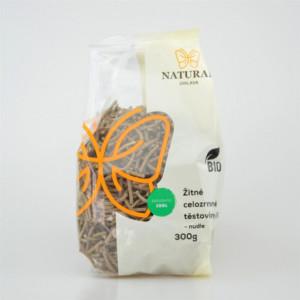 Těstoviny žitné celozrnné BIO - nudle - Natural 300g