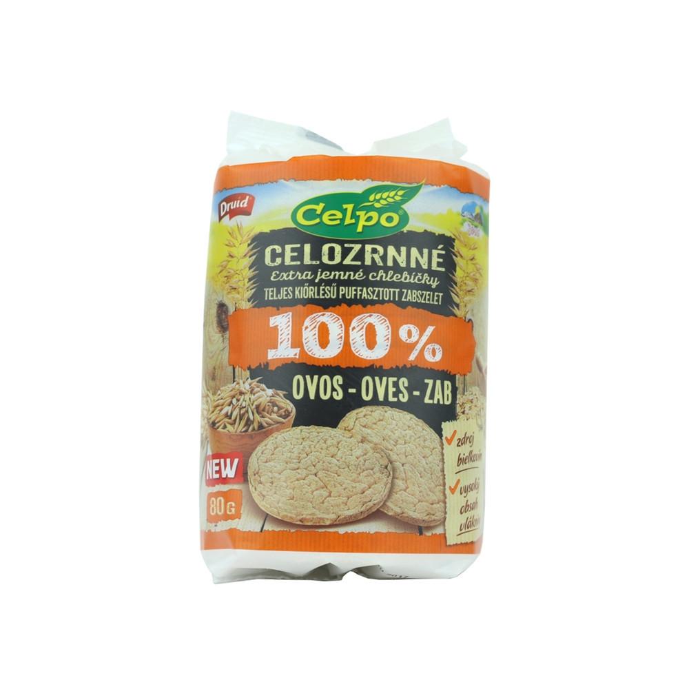 Celozrnné chlebíčky ovesné - Celpo 80g