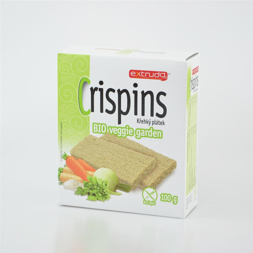 Crispins BIO křehký plátek veggie garden - Extrudo 100g