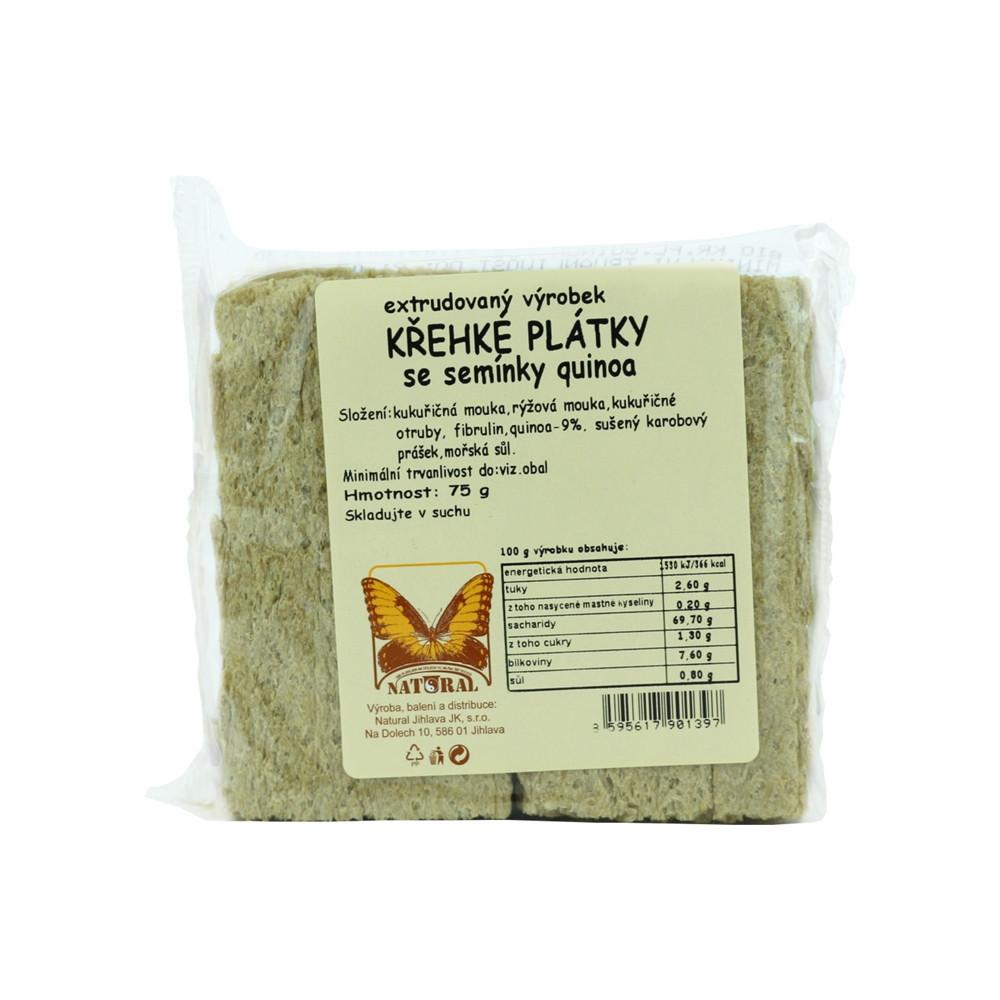 Křehké plátky se semínky quinoa - Natural 75g