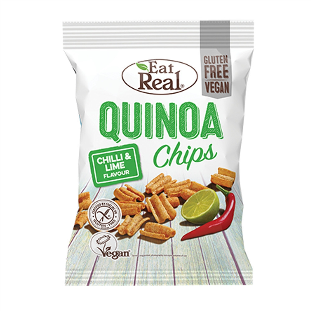 Quinoa chips chilli a limetka - Eat Real 30g