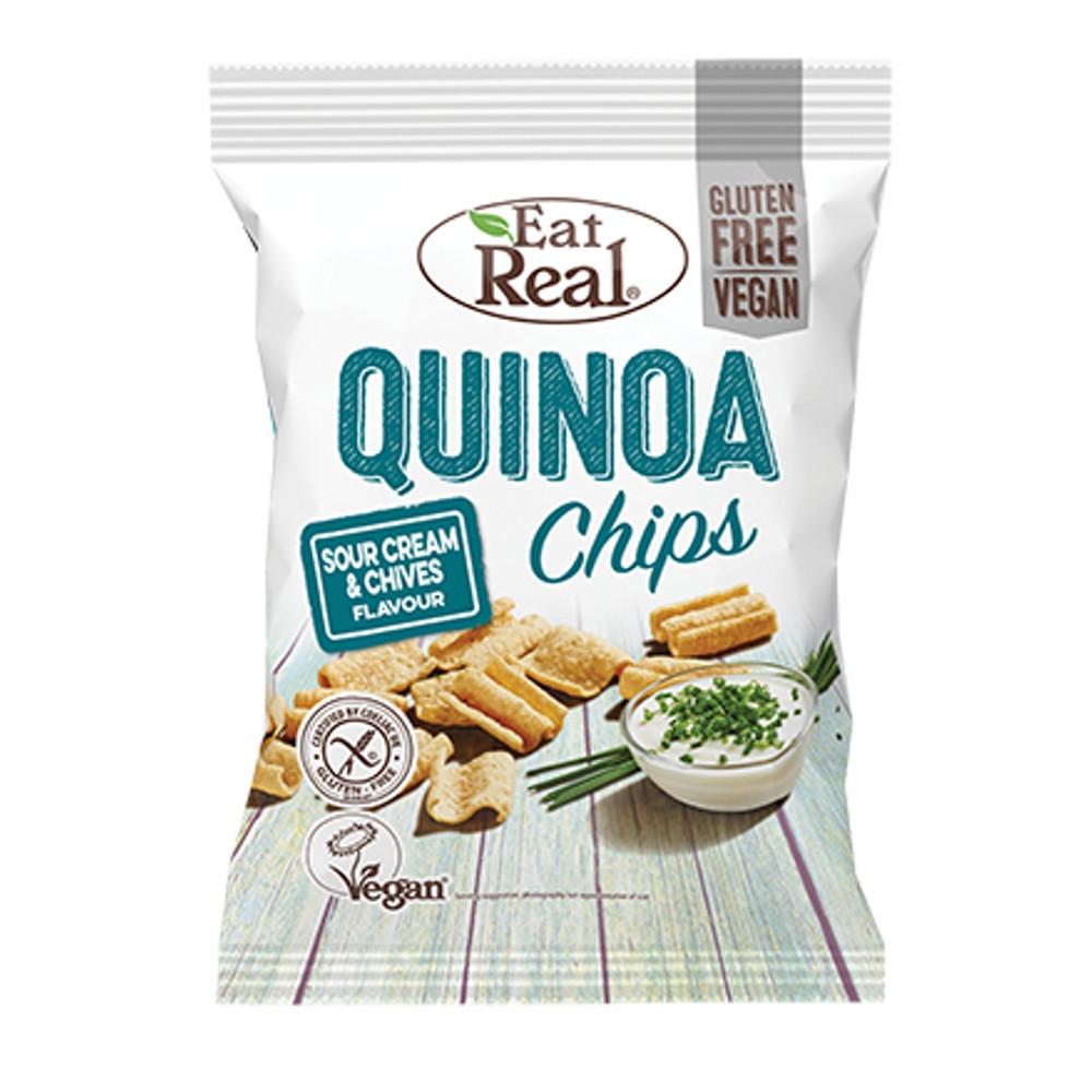 Quinoa chips smetana a pažitka - Eat Real 30g