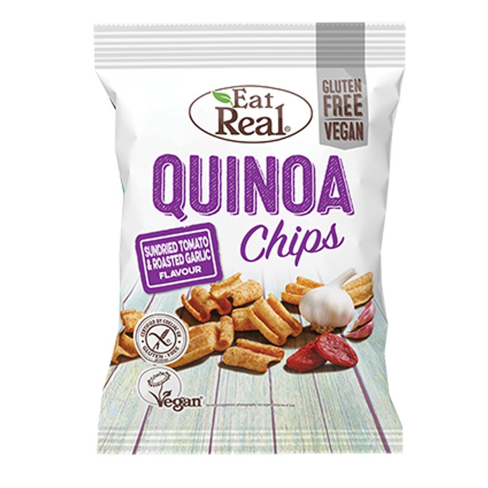 Quinoa chips sušená rajčata a pečený česnek - Eat Real 30g